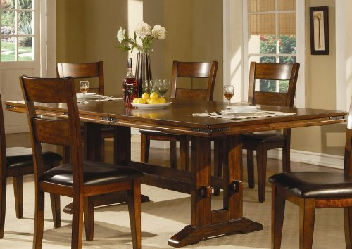 Dining Table with Extension Leaf in Dark Oak Finish