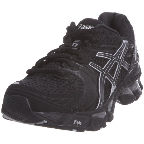 Asics Women's Gel Kayano 17 W Black/Onyx/Lightning Trainer T150N 9099 4 UK