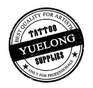 Tattoo Needles and Tips Set - Yuelong 50pcs High Quality Disposable Tattoo Needles 7RL Round Liner & Black Round Long Tattoo Tips 7RT for Tattoo Machine Gun Grip Tube Kits,Tattoo Supplies,Tattoo Kits (Tamaño: 7RL needles&tips)