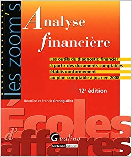Analyse financi re les outils du diagnostic financier for Table financiere