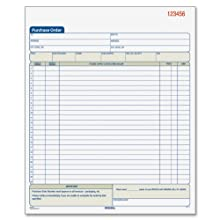 Adams Purchase Order Book, 10.69 x 8.38 Inches, White and Canary, 2-Part (50 Sets) (DC8131)