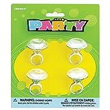 Plastic Diamond Ring Girl Party Favor, 4ct