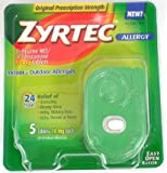 Zyrtec Allergy 24 Hour 10mg Tablets 5-Count