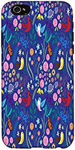 Snoogg Bird Floral Patterns Case Cover For Apple Iphone 6+ / 6 Plus