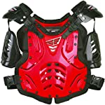 Fly Racing Convertible II Youth Boys Roost Deflector Off-Road/Dirt Bike Motorcycle Body Armor - Red / Mini