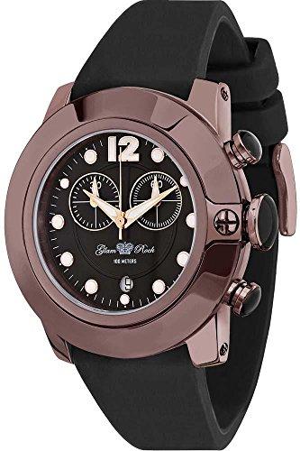 Glam Rock - GR32126 - Sobe - Montre Femme - Quartz Chronographe - Cadran Noir - Bracelet Silicone Noir