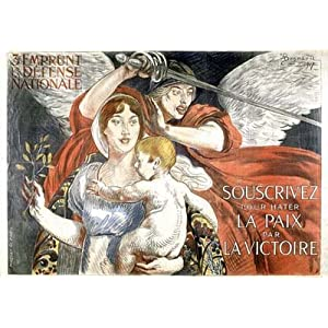 Souscrivez 1917 Vintage French Advertising - Large Metal Wall Sign Retro Art 30cms x 40cms