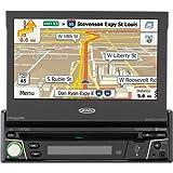 """Jensen 7"""" Navigation Flip Out Touchscreen CD/DVD Receiver with Built in Bluetooth VX7010"""