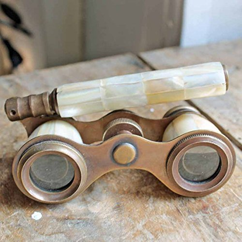 Brass Binocular Mother of Pearl - Antique Opera Binocular By NauticalMart 0