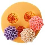 JADE Onlines 1.5cm Flower Silicone Fondant Sugar Pudding DIY Cake Cookie Mini Craft Mold
