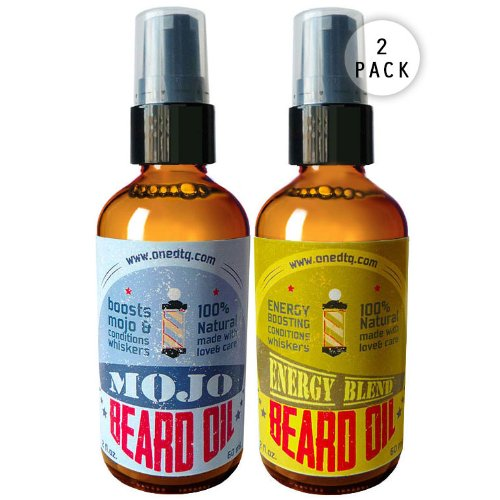 Beard Grooming Set: Mojo Beard Oil And Energy Blend Beard Conditioner W/ Vitamin E