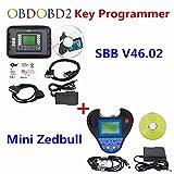 HITSAN SBB V46.02 Auto Key Programmer Pro OBD2 Transponder Silca SBB V33.02 V46.02& Mini Zed Bull SW V508 Works Multi-Car Key Maker
