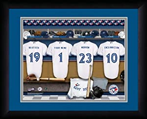 MLB Personalized Locker Room Print Black Frame Customized Toronto Blue Jays by You