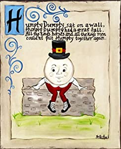 Humpty Dumpty Classic Nursery Rhyme Framed Art from Children's Art by Becki Ann