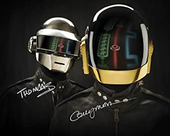 Daft Punk reprint signed photo #2 rp Random Access Memories