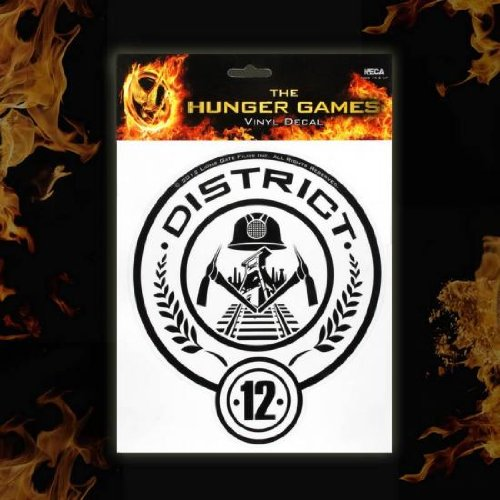 The Hunger Games Girl on Fire District 12 Decal