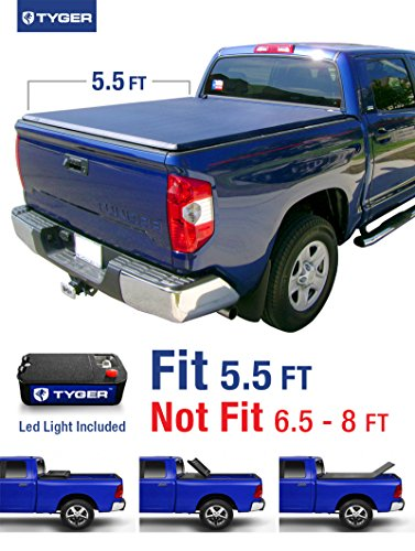 Tyger Auto TG-BC3T1432 Tri-Fold Pickup Tonneau Cover (Fits 14-16 Toyota Tundra (with/without utility track) 5.5 feet (66 inch)) (Toyota Tundra Bed Cover compare prices)