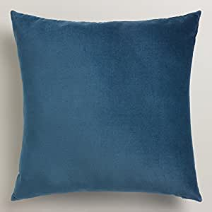 midnight blue velvet throw pillow 18 sq