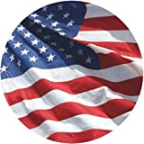 American Flag 3x5 - 100% Made In USA using Tough, Long Lasting Nylon Built for Outdoor Use, UV Protected and Featuring Embroidered Stars and Sewn Stripes plus Locked Stitches on Stripes and Quadruple Stitching on the Fly End - Satisfaction Guaranteed