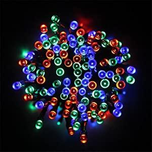 2013newestseller 22m Colorful 200 Led Solar Fairy String Lights for Outdoor Gardens Homes Christmas Party