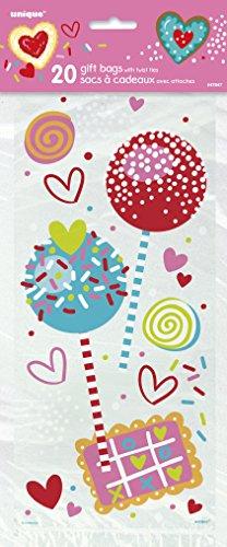 Fiesta de San Valentín dulce bolsas de celofán, paquete de 20
