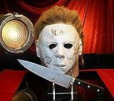 """HALLOWEEN H20"" Screen used Prop KNIFE, Signed JAMIE LEE CURTIS, JOHN CARPENTER, NICK CASTLE MASK, COA, DVD, CASE"