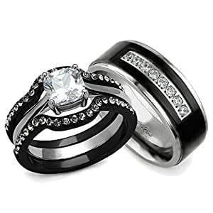 His And Hers Wedding Ring Sets Couples Matching Rings Women 39