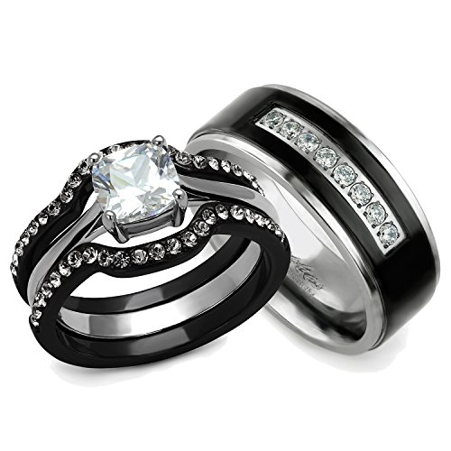 Other Clothing Shoes & Accessories His and Hers Wedding Ring Sets Coup
