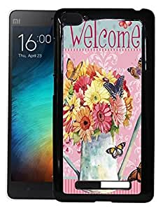 FCS Printed 2D Designer Hard Back Case For Xiaomi Mi 4i Design-50019