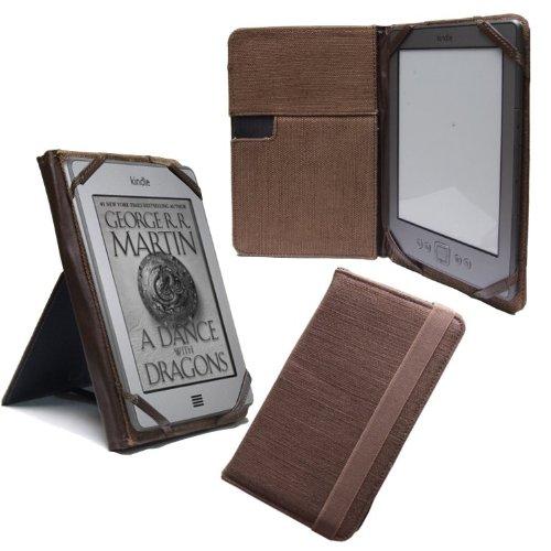 Navitech 6 Zoll textile Case / Tasche / Cover mit Ständer im Hemp look für das Bookeen Cybook Odyssey