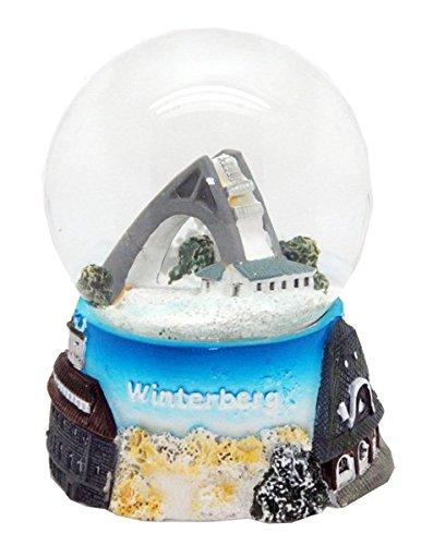 30043Souvenir Boule à neige hiver Montagne 65mm
