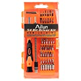58 in 1 with 54 Bit Precision Screwdriver Set,Magnetic Driver Kit,by Ailun,for Cell Phone, Tablet, PC, Macbook, Camera,Shaver,Electronics Repair Tool Kit