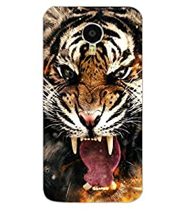 ColourCraft Roaring Tiger Design Back Case Cover for MEIZU BLUE CHARM NOTE 3