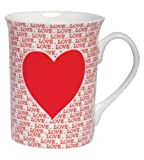 Santa Barbara Design Studio Christopher Vine Design Bone China Mug with Coordinating Design Gift Box, Love (Heart)