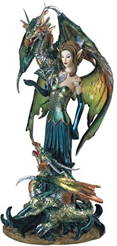 George S. Chen Imports SS-G-91278 Fairy Collection Pixie with Dragon Fantasy Figurine Figure Decoration