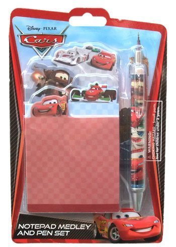 Disney Pixar Cars Mater & Rusty Notepad Medley & Pen Set- Stationery Set Includes Four Notepads and Pen! - 1