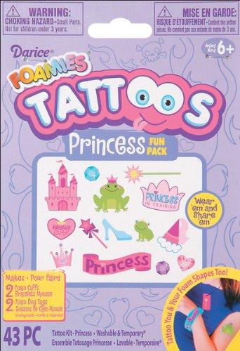 Foam Princess Tattoo Activity Kit Party Accessory - 1
