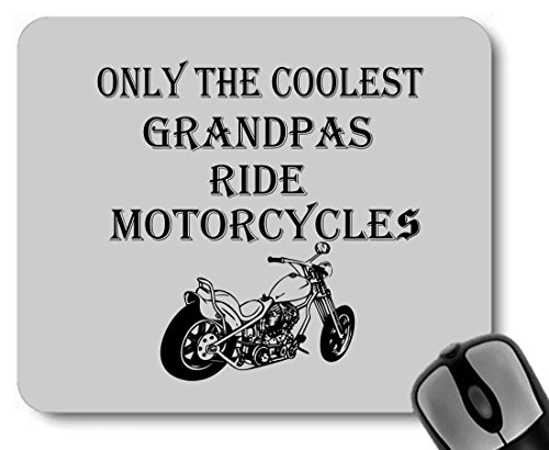 Only The Coolest Grandpas Ride Motorcycles Bike Mousepad