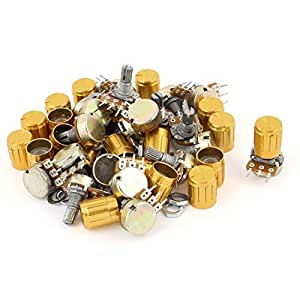 20pcs 1K OHM Linear Taper Rotary Potentiometer 1KB B1K Pot w Knobs