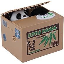 Alcoa Prime Popular New Cute Panda Automatic Stole Coin Piggy Bank 11. 5x9. 5x9cm Size Money Saving Box Moneybox...