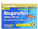 Good Sense Ibuprofen Caplets, 200 mg, 50-Count