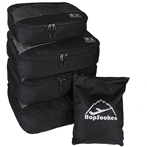 5pc Packing Cubes Set Large Travel Luggage Organizer 4 Cubes 1 Laundry Pouch Bag (Packing Made Simple compare prices)
