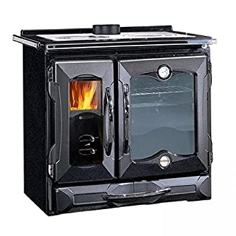 wood burning cook stove la nordica suprema black made in italy cooking stove. Black Bedroom Furniture Sets. Home Design Ideas