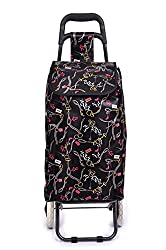 PAffy Foldable Shopping Trolley Bag (Chocolate Brown)