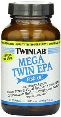 Twinlab Mega Twin Epa Fish Oil 60 Capsules from Twinlab