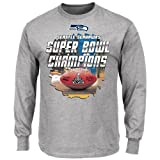 Seattle Seahawks 2013 Super Bowl Champs Enormous Victory Championship Long Sleeve T-shirt by NFL