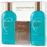Malibu Hard Water Wellness Treatment Kit, 9 oz Shampoo, 9 oz Conditioner and 0.17 Hard Water Treatment