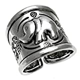 ELEPHANT OXIDIZED BALI BOHEMIAN INDONESIA STERLING SILVER RING (5)