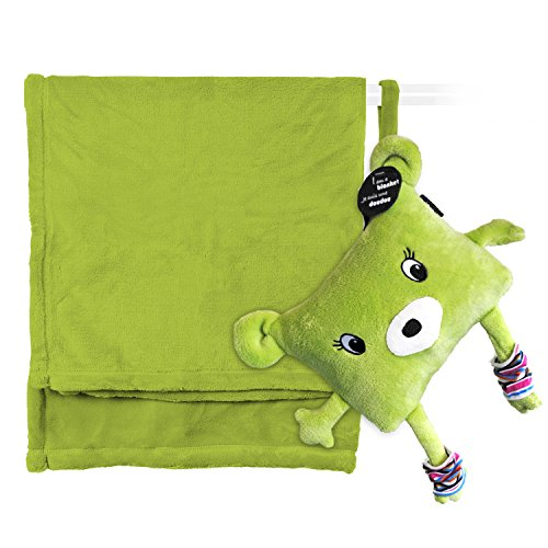 My Friend Huggles DodotoGo, Soft Baby Blanket Stored in a Huggable Pouch, Green