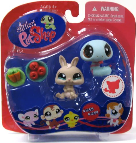 littlest-pet-shop-snake-rabbit-1258-1259-walmart-exclusive-by-hasbro